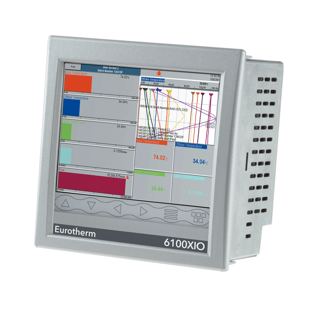 Eurotherm 6100XIO Distributed Graphic Recorder. 6100XIO Distributed Graphic  Recorder